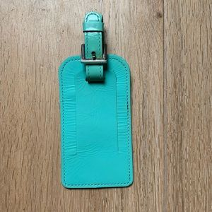 Tiffany & Co. blue luggage tag patent leather